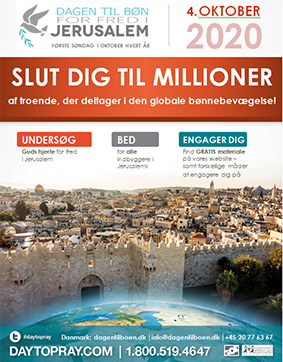 Dagen til bøn for Jerusalems Fred flyer
